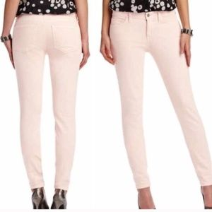 LOFT Super Skinny Pale Pink Jeans